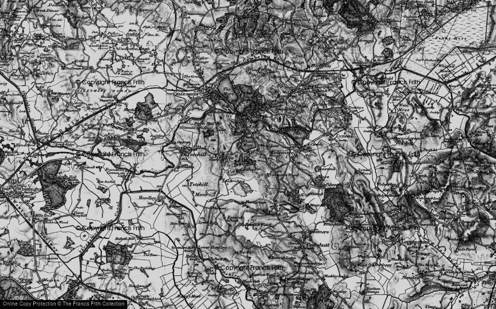 Old Map of Wood Lane, 1897 in 1897