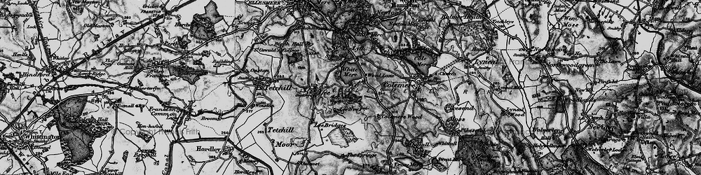 Old map of Yarnest Wood in 1897