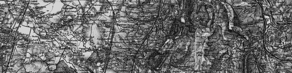 Old map of Wood Lanes in 1896