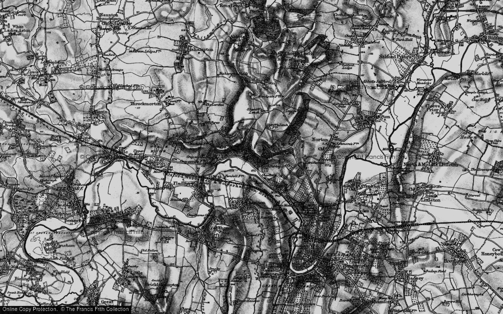 Old Map of Wood Norton, 1898 in 1898