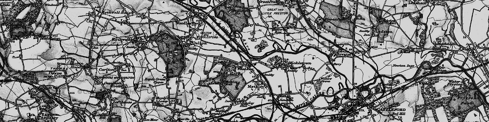 Old map of Wood Row in 1896