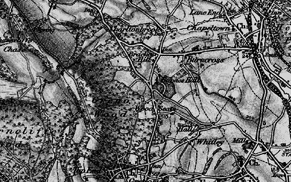 Old map of Wood Seats in 1896