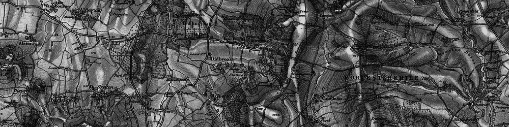 Old map of Wood Stanway in 1896