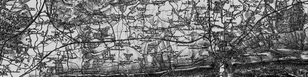 Old map of Wood Street Village in 1896