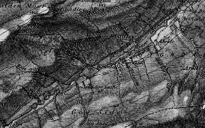 Old map of Angram Reservoir in 1897