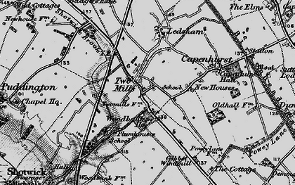 Old map of Woodbank in 1896