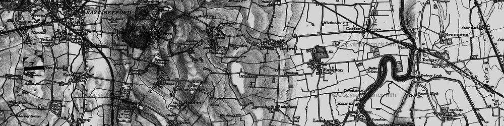 Old map of Woodbeck in 1899