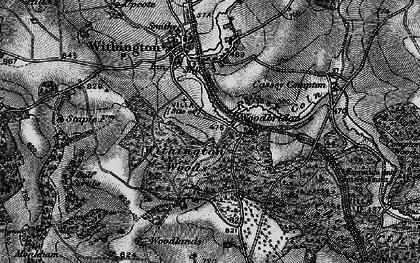 Old map of Woodbridge in 1896