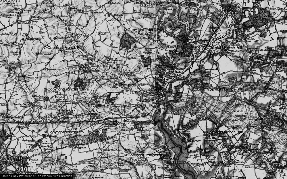 Old Map of Woodbridge, 1896 in 1896