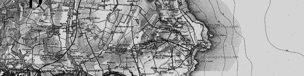 Old map of Woodbridge in 1897