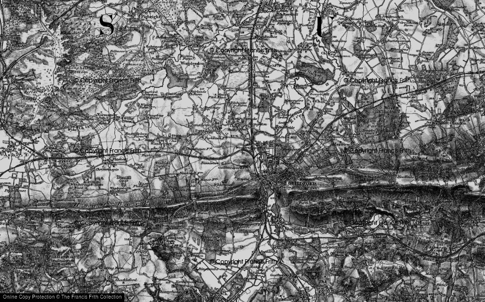 Old Map of Woodbridge Hill, 1896 in 1896