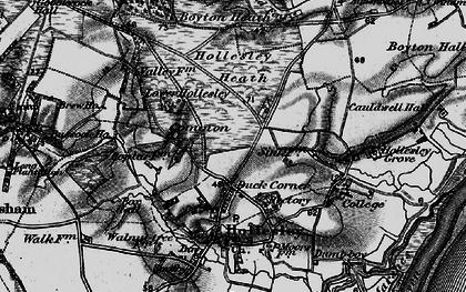 Old map of Woodbridge Walk in 1895