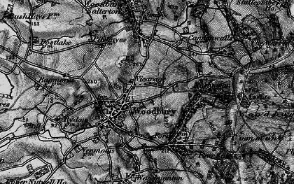 Old map of Woodbury Common in 1898