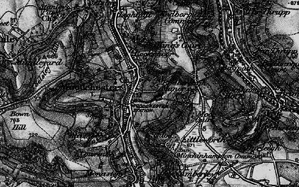 Old map of Woodchester in 1897