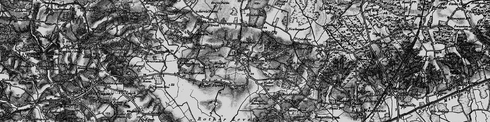 Old map of Woodchurch in 1895