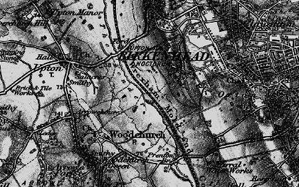 Old map of Woodchurch in 1896
