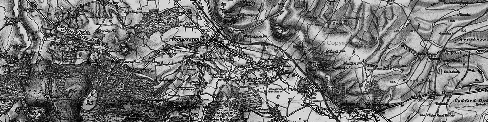 Old map of Woodcock in 1898