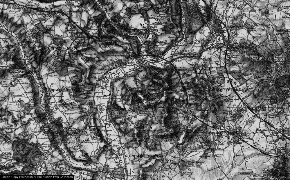 Old Map of Woodcock Hill, 1896 in 1896