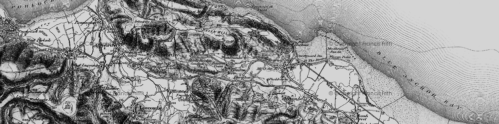 Old map of Woodcombe in 1898