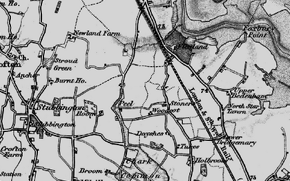 Old map of Woodcot in 1895