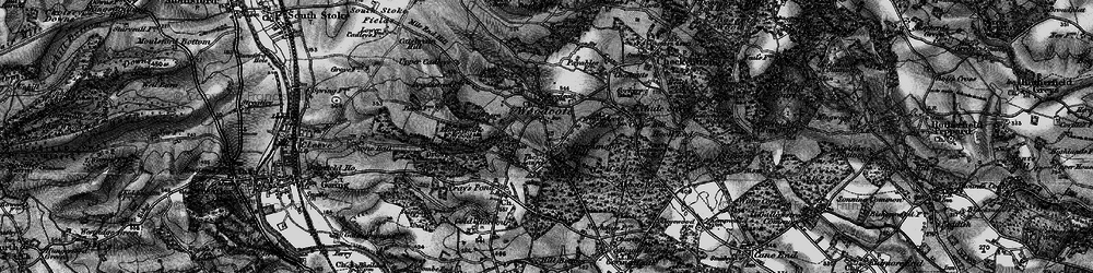 Old map of Woodcote in 1895