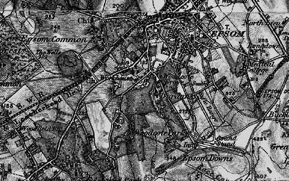 Old map of Woodcote in 1896
