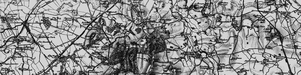 Old map of Woodcote in 1897