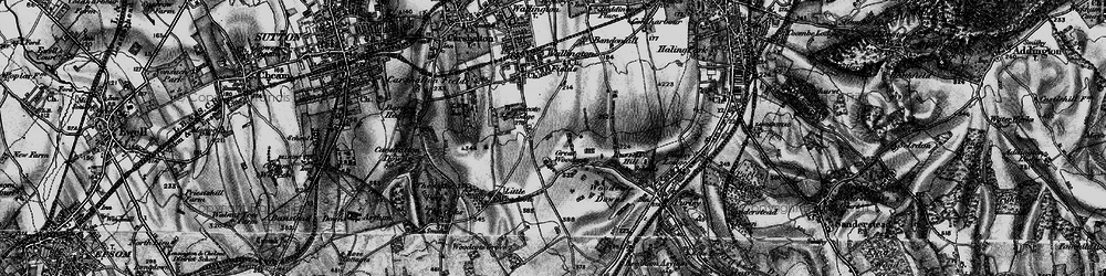 Old map of Woodcote Green in 1895