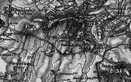 Old map of Woodcote Manor Ho in 1898