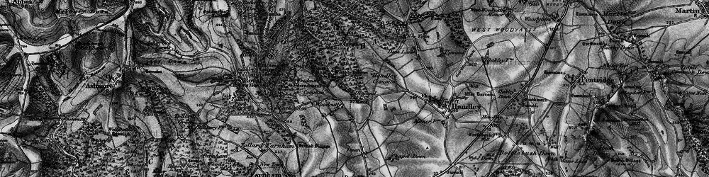 Old map of Woodcutts in 1895