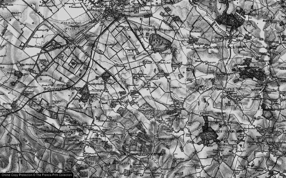 Old Map of Woodditton, 1898 in 1898