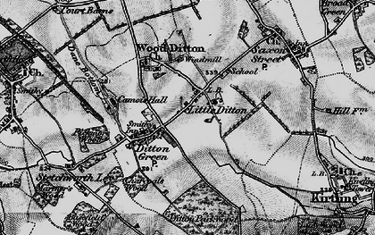 Old map of Woodditton in 1898