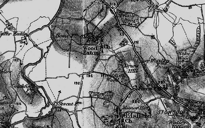 Old map of Woodeaton in 1895