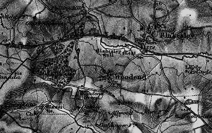 Old map of Woodend Green in 1896