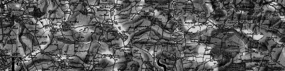 Old map of Woodend in 1896