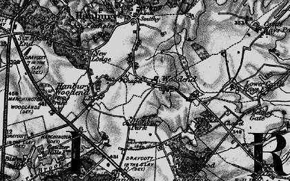 Old map of Woodend in 1897