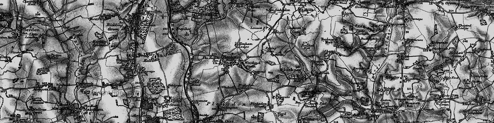 Old map of Woodend Green in 1895
