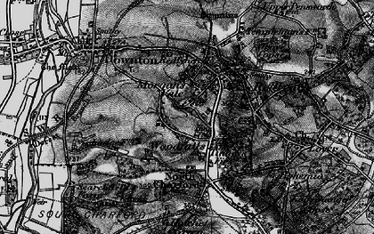 Old map of Woodfalls in 1895