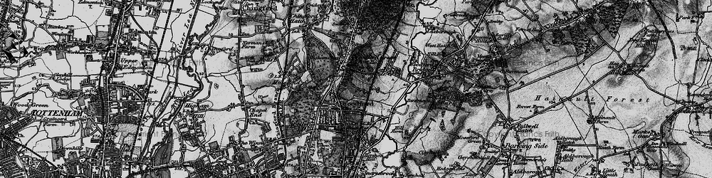 Old map of Woodford in 1896