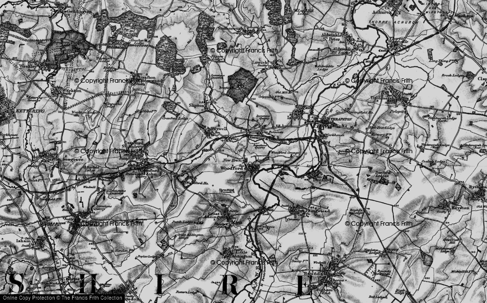 Old Map of Woodford, 1898 in 1898