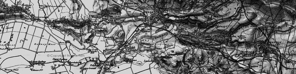Old map of Woodford in 1898