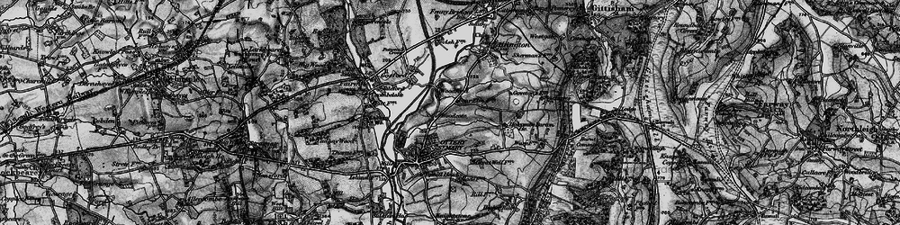 Old map of Westgate Hill in 1898