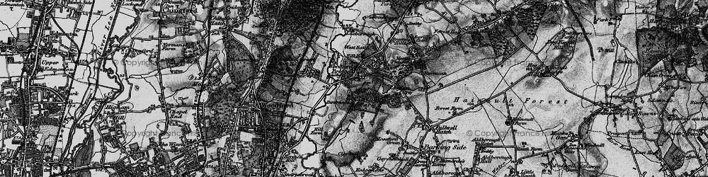 Old map of Woodford Bridge in 1896
