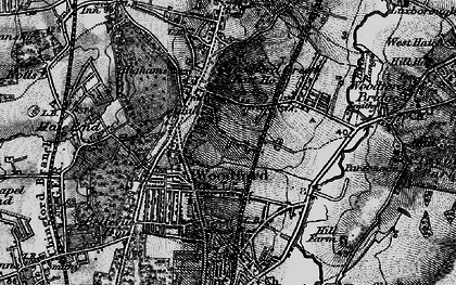 Old map of Woodford Green in 1896