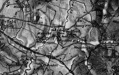 Old map of Woodfordhill in 1896