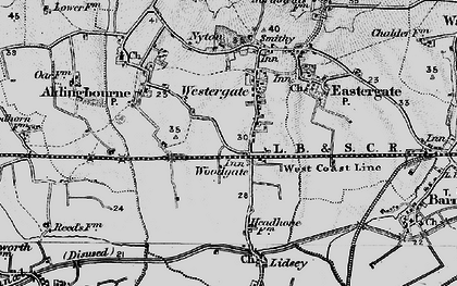 Old map of Woodgate in 1895