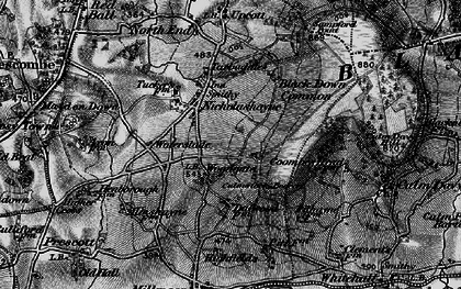 Old map of Woodgate in 1898
