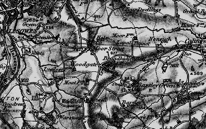 Old map of Woodgate in 1899