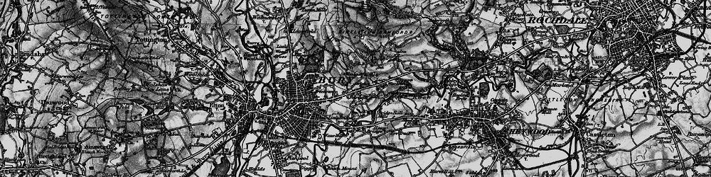 Old map of Woodgate Hill in 1896