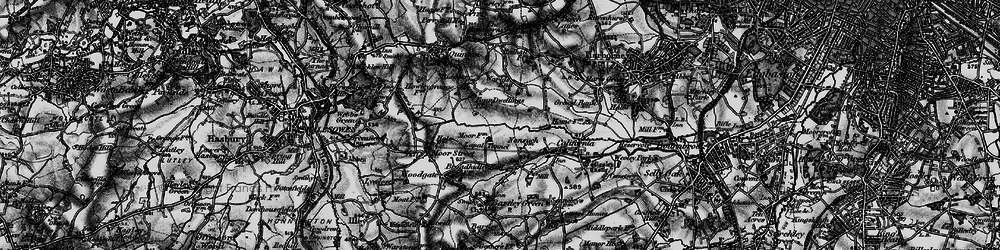 Old map of Woodgate Valley in 1899
